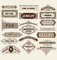 mega set of banners and badges vector image vector image