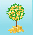 money tree with coins growing vector image