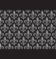 monochrome seamless floral pattern with royal lily vector image