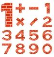 numbers set brick vector image