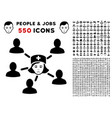nurse linked patients icon with bonus vector image vector image