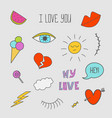 patch set - 80s-90s style design vector image