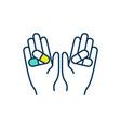 placebo drug use rgb color icon vector image vector image