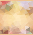 polygonal background in creamy beach tones vector image vector image