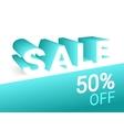 Sale 3d text vector image