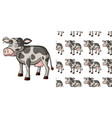 seamless background design with dizzy cow vector image vector image