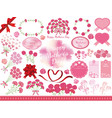 set of assorted graphic elements for mothers day vector image vector image