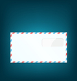 Single close envelope on blue background vector image