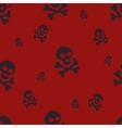 Skull Pattern Red vector image vector image