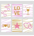 St Valentines Day cards vector image vector image