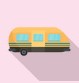 summer camp trailer icon flat style vector image