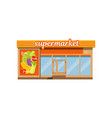 supermarket facade store with showcase vector image