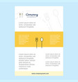 template layout for fork and spoon comany profile vector image vector image