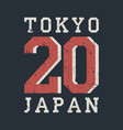 tokyo japan typography for design clothes t-shirt vector image vector image