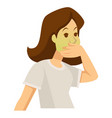 woman feeling sick food poisoning or pregnancy vector image vector image