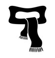 woolen scarf silhouette vector image