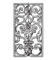 wrought-iron oblong panel is an 18th century vector image vector image
