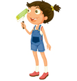 Young Girl Painting vector image vector image