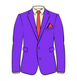 men jacket with shirt icon cartoon vector image