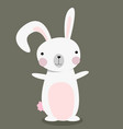cute bunny isolated happy easter design vector image