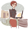 woman in office vector image