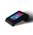 3d white payment pos terminal closeup isolated vector image vector image