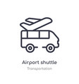 airport shuttle outline icon isolated line from
