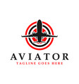 aviator logo with initial letter vector image vector image