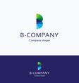 B company logo vector image vector image