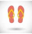 Beach slippers vector image vector image