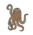 beige octopus tangle pattern vector image vector image