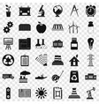 big company icons set simple style vector image vector image