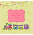 Birthday Greeting Card with Photo Frame vector image vector image