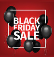 black friday sale gold lettering holiday shopping vector image vector image