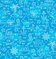 blue sea pattern vector image