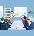 briefing and conference flat vector image