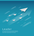 business leadership and teamwork paper plane vector image vector image