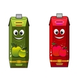 Cartoon apple juice packages vector image vector image