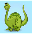 cartoon dinosaur cheerful on light background vector image