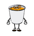 cartoon funny ramen soup food character japanese vector image vector image