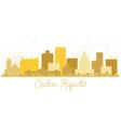 cedar rapids iowa skyline golden silhouette vector image vector image
