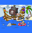 children on the theme of pirates vector image vector image