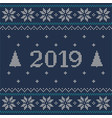 christmas blue jumper fragment with 2019 new year vector image vector image