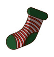 christmas decorative boot vector image vector image