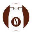 coffee toast bag icon vector image vector image
