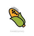 Corn icon Harvest Thanksgiving vector image vector image