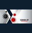 coronavirus covid19-19 virus spread pandemic vector image vector image