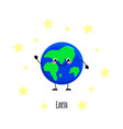 cute earth kawaii characters vector image vector image