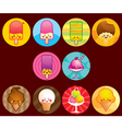 cute ice cream buttons vector image