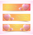 decorative light horizontal banners vector image vector image